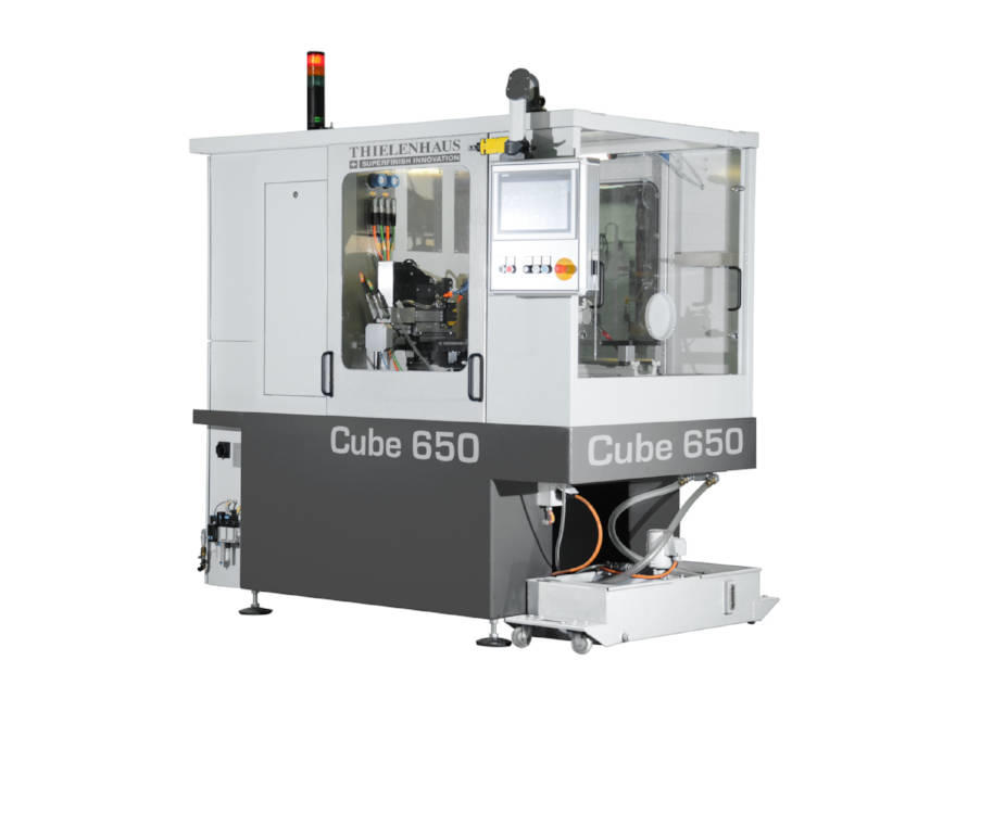 The CUBE is the machine platform for Superfinish / Microfinish machining of shafts that uses our own, intuitive touchscreen software | Thielenhaus Superfinish Innovation | Cube / PowerCube